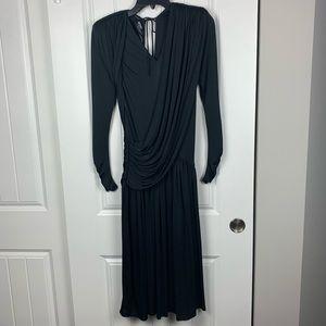Ursula of Switzerland black drape dress